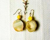 Glimmering Geode Earrings
