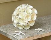 Starfish Bridal Bouquet -- Handmade Paper Flowers Bouquet with Starfish -- Beach Wedding -- Destination Wedding