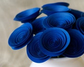 Royal Blue Paper Flowers, Blue Centerpiece, Blue Floral Arrangement, Boy Baby Shower Centerpiece