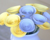 18 Yellow and Grey Flowers, Alternative Paper Centerpiece