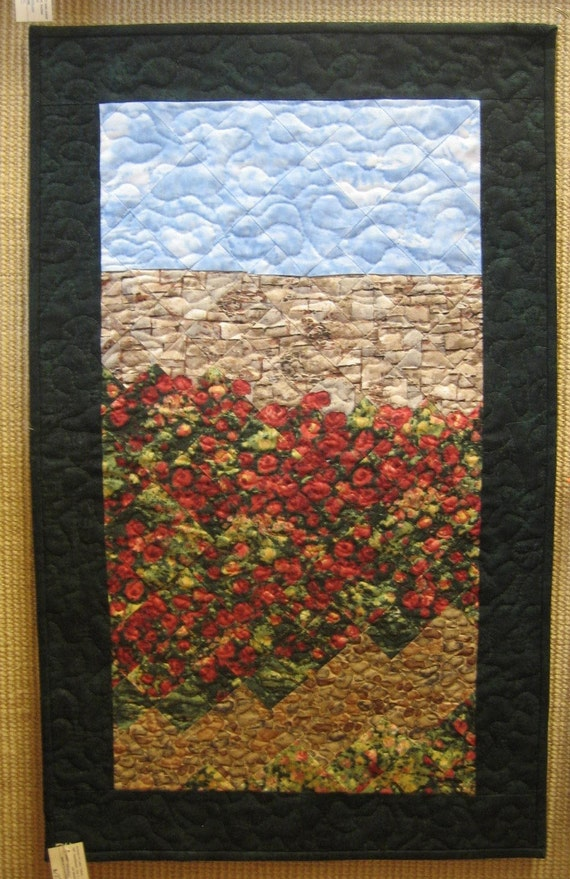 Art Quilt I Never Promised You A Rose Garden Wall Hanging
