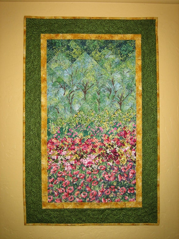 Summer Trees Art Quilt Wall Hanging