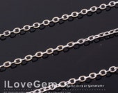 WSALE / 20M /  Rhodium-plated 245(SF) Flat Cable chain