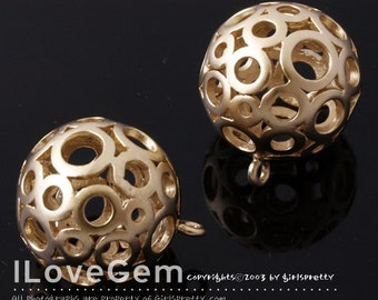 SALE/ 10pcs / NP-932 Matt Gold plated, 16.5mm Ball Dangle