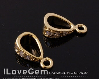 SALE / 20pcs / NP-978 Gold plated, Bail