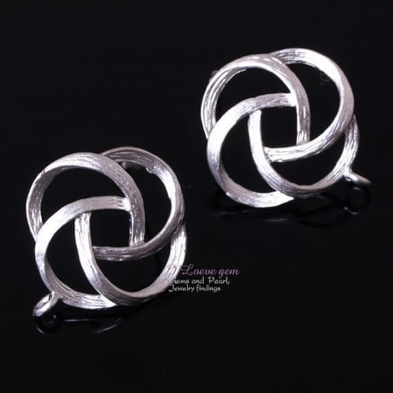 NP-409 Matt Rhodium-plated Oriental Rose earring, 925 sterling silver post, 4pcs