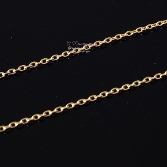 NP-1475 Gold-plated 235 Diamond Cut Cable chain, 3 Meters