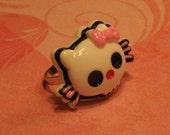 LAST ONE - Hello Kitty Skull Adjustable ring