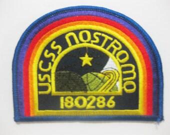 Free shipping Alien U.S.C.S.S. NOSTROMO Patch Badge 7.5x10 cm.