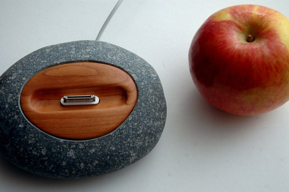 iPhone dock iPod dock stand charger station made of rock - The iRock Dock