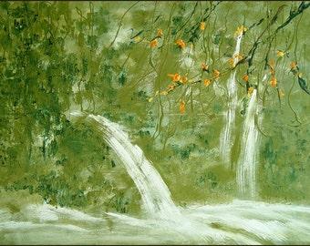 Green Energy - waterfall, 11 x 14