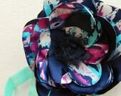 the oceania- watercolor print flower headband