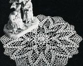 Pond Lilly Doily  - Instant Download Digital File - Vintage Crochet Pattern - Pattern 161