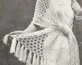 Fashion Wrap - Instant Download Digital File - Vintage Crochet Pattern  - Pattern 118