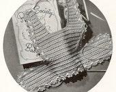 Baby Bib - Instant Download Digital File - Vintage Crochet Pattern  - Pattern 63