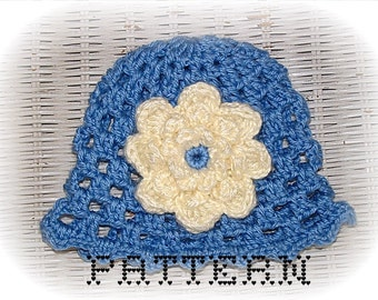 Fluffy Mum Baby Cloche - 3 Sizes - Instant Download Digital File - Crochet Pattern - Quick and Easy