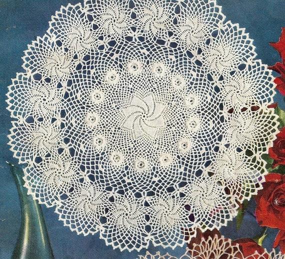 Rose of Erin Doily  - Instant Download Digital File - Vintage Crochet Pattern - Pattern 18