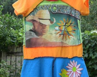 Upcycled Kenny Chesney Dress 4/5T