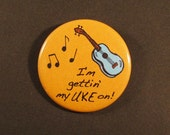 Ukulele Pinback Uke Button Badge 1.75 inch