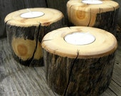 Aspen Candle Holders From Colorado-Set of 3 Graduated Tea light holders