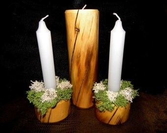 Aspen Tree Unity Wedding Candles-Personalized FREE-Candles NOT Included
