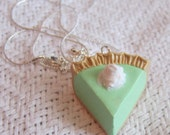 Green Key Lime Pie with Whipped Cream Necklace / Pendant