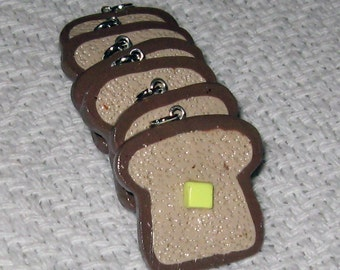 Toast with Butter Bread Loaf Slice Necklace / Pendant