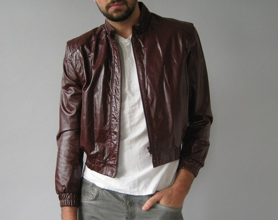 Oxblood Leather Jacket - Small