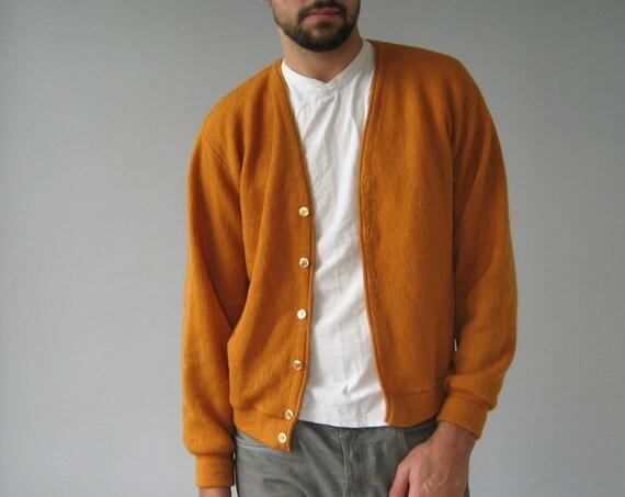 Orange Cardigan Sweater - Small/Medium