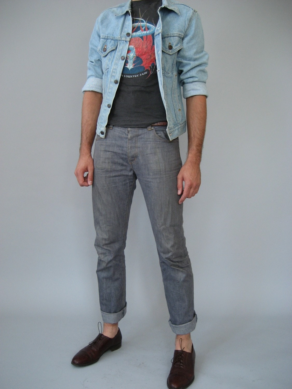 Mens Blue Jean Jacket