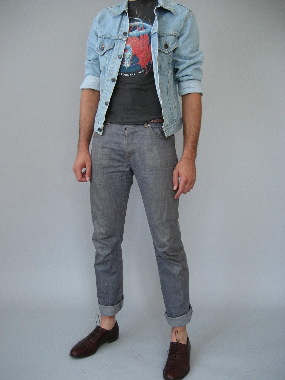 Vintage Mens 80s Levi S Jean Jacket Denim Lite By Nakedvintage