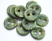 Mossy Green Dream Ceramic Buttons