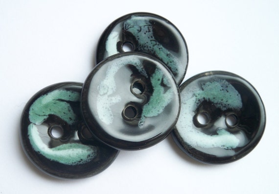 Chocolate Mint Ceramic Buttons