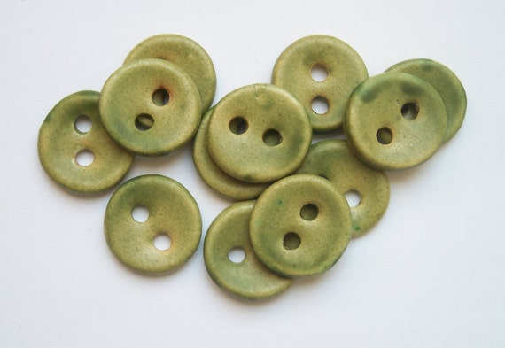 Lichen Green Buttons