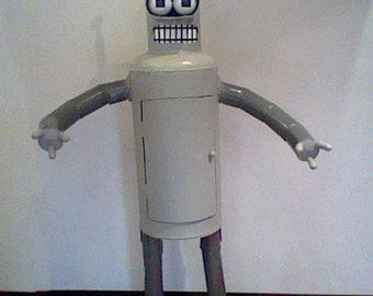Life sized fully metal cartoon robot