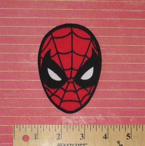 FREE SHIPPING - Spiderman head - iron-on applique