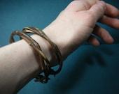 SET OF THREE Intertwined Grapevine Bracelets