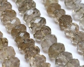 Faceted Rondelle Beads, Natural Smokey Topaz - 8 mm - AAA Pack of 10 pcs - 110301-04