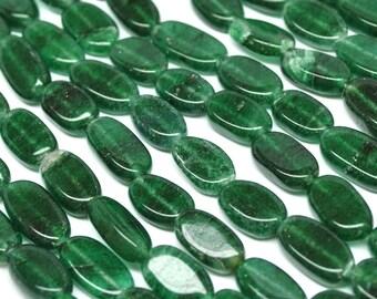 Oval Beads, Emerald Green Aventurine 10 mm - 14''STRAND - 110419-02