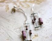 Dust Pink Dangle earrings
