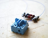 Blue Necklace, Unique Necklace, Chocker, Modular Cotter Necklace, Recycled and Eco friendly