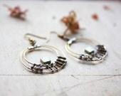 Secret Message Resistor Hoop Earrings
