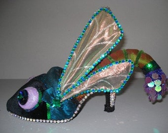 sculpture dragon fly shoe