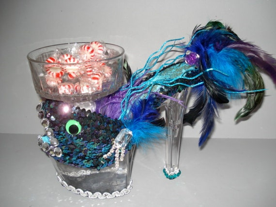 Fish Fabulous high heel candy dish