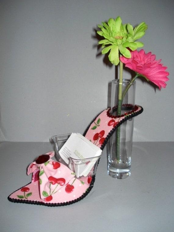 Business Card Holder High Heel Bud Vase By Solesensations