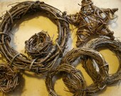 Grapevine Wreaths Vintage Assortment of 7 pieces