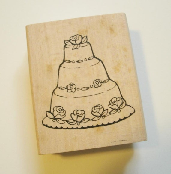 wedding cake stamp rubber stamp wedding cake 25599