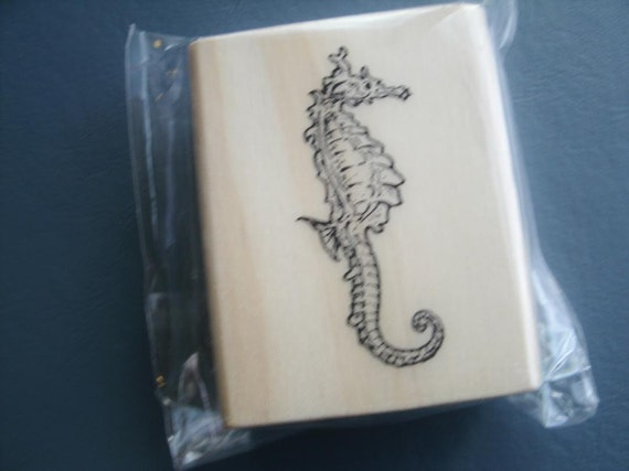 Seahorse Wood Mounted Rubber Stamp