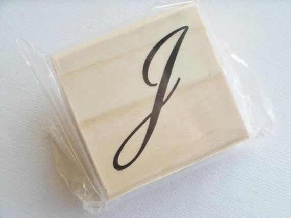 letter j rubber stamp With letter j stamp