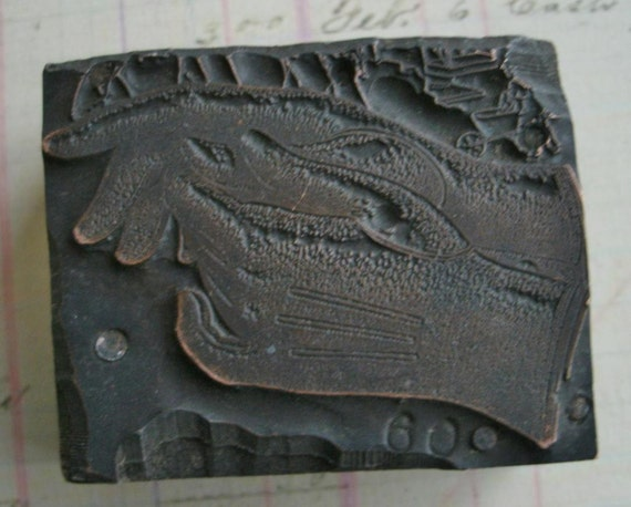Antique Printers Block Copper Plate Ladies Fashion Gloves or Driving Gloves